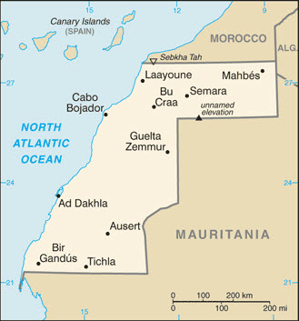 Sahrawi Arab Democratic Republic Western Sahara Interactive Map